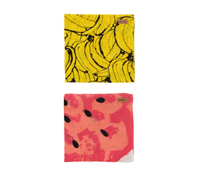 [ABODE] BANANA & MELON BABY NAP WRAPS (2 Pack)